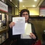 Fotos de la entrega de escritos en el Registro, el 29/04/2015